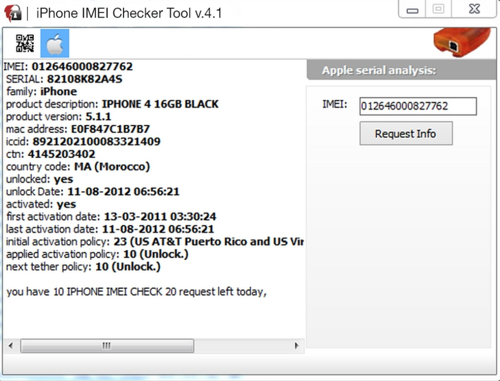 iPhone IMEI Checker