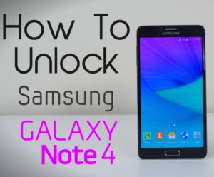How To Unlock Note 4