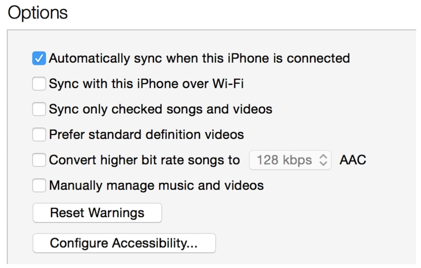 Syncing iPhone