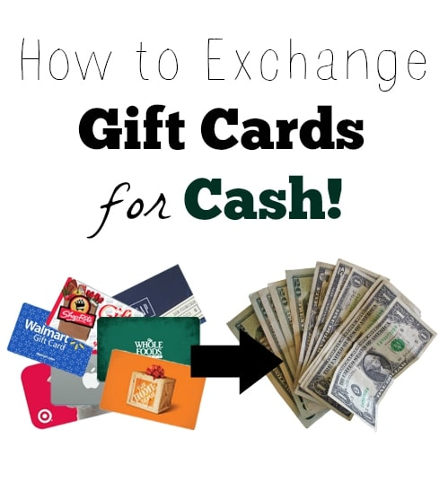 How To Exchange Gift Cards For Cash