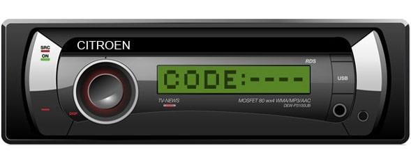 Citroen Radio Code